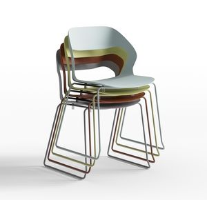 Mixis Air R_SB, Designer Stuhl mit Kufengestell