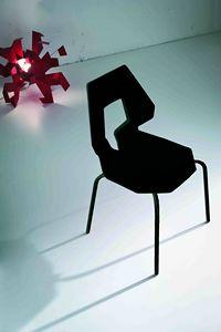 Prodige NA, Minimal Stuhl aus Metall und Polymer, perfored zurück
