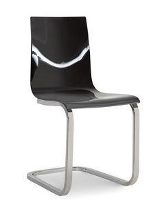 Steffy Vip, Stuhl aus Methacrylat mit freitragendem Metallgestell
