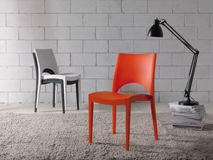 Art. 046 Natural, Polypropylen Stuhl, für Küche und Objektbereich, stapelbar