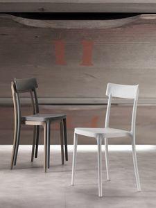 Art. 077 Corsocomo, Stuhl elegant gestaltet, leicht und stapelbar