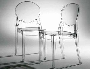 Artic, Stapelbarer, transparenter Stuhl, auch für den Außenbereich
