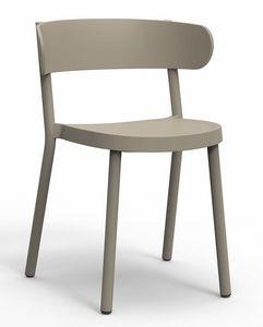 Clem, Kunststoffstuhl für Bars und Hotels
