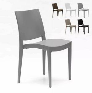 Esszimmerstuhl Bistrostuhl Esstischstuhl Polypropylen Von Grand Soleil Trieste S6225, Stapelbarer Stuhl aus Polypropylen