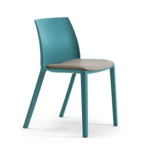 Greta, Stuhl aus recyceltem und recycelbarem Kunststoff