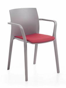 Klia imb, Stapelbarer Stuhl mit fester oder herausnehmbarer Polsterung