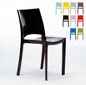 Küche- und Barstuhl Glänzend Modernes Design aus Polypropylen Grand Soleil Sunshine S6215, Küchenstuhl aus Polypropylen