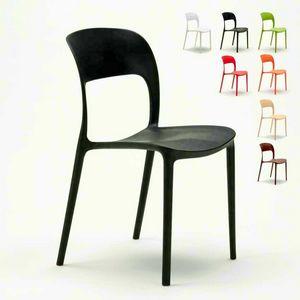 Küchenstühle Hausbar Restaurant in farbigem Polypropylen Design RESTAURANT - SR633PP, Küchenstuhl aus farbigem Polypropylen