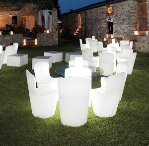 Leuchtender Moderner Designstuhl b für Küche Bar Restaurant und Garten Slide Zoe Rg LA ZOE080A, Stuhl mit LED-Licht