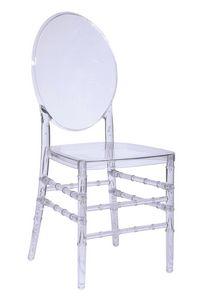 Luigi, Stapelbarer Stuhl aus reinem Polycarbonat