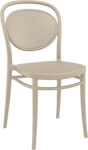Mabel, Stapelbare Stühle aus Polypropylen