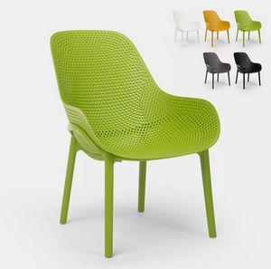 Moderne Designstühle für Küche und Bar aus Polypropylen Majestic SC756PP, Robuster Polypropylenstuhl