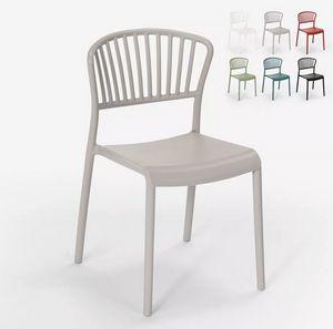 Moderner Designstuhl aus Polypropylen für ein Restaurant mit Küchenbar im Freien Vivienne SC781, Polypropylen Stuhl für den Innen- und Außenbereich