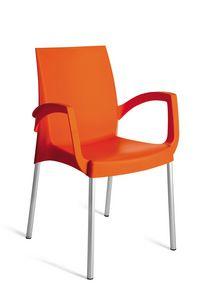 PL 3640, Stapelbarer Stuhl aus Polypropylen für den Außenbereich