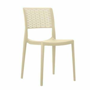 Polypropylen Barhocker für Küche und Garten stapelbar CROSS - SC702PP, Stapelbarer Stuhl für Garten
