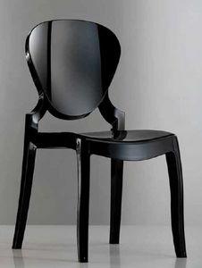 Queen, Stuhl aus transparentem oder glänzendem Kunststoff