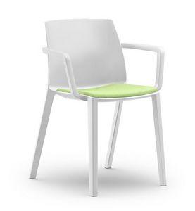 RECY 156, Stuhl aus Polypropylen mit Armlehnen