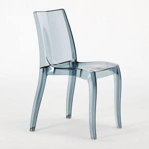 Transparenter Stuhl aus Polycarbonat Cristal Light – S6326TR, Moderner Stuhl aus Polycarbonat, für Vertrags