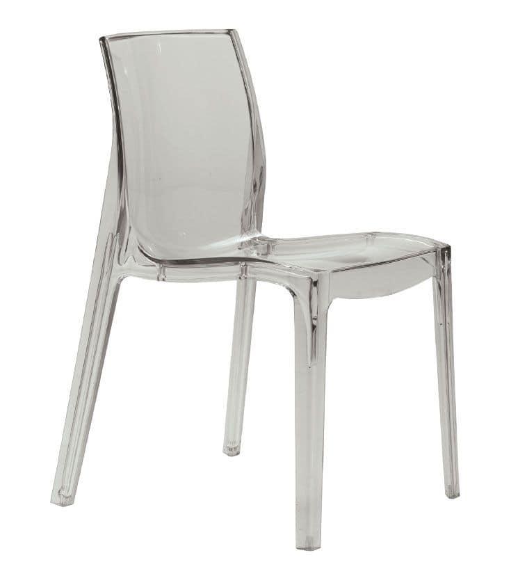 SE 6317, Kunststoff-Stuhl für drinnen und draußen, für Restaurant