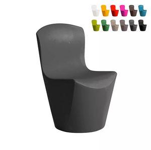 Slide Moderner Designstuhl für Bar Restaurant und Gartenküche Zoe SD ZOE080, Polyethylenstuhl für drinnen und draußen