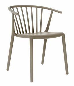 Star, Stapelbarer Stuhl für Bars und Restaurants
