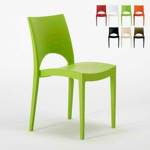 Stühle Küche Hause Polypropylen Stapelstab PARIS Grand Soleil - S6314, Stapelbarer Küchenstuhl aus Polypropylen