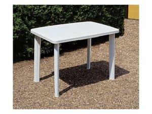 Faretto, Tisch für den Garten, aus schlagfestem Kunststoff