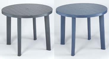 Tondo, Runden Tisch aus Kunststoff, für den Außeneinsatz
