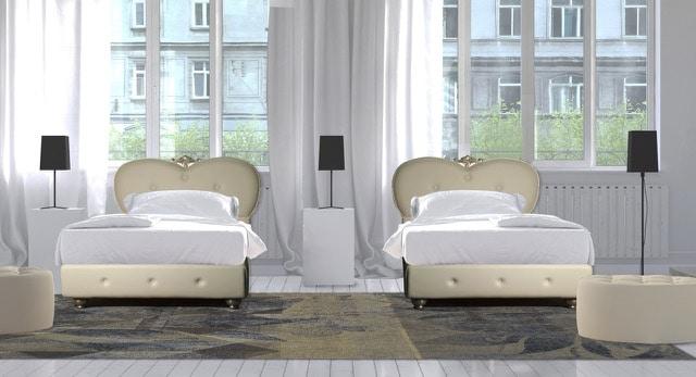 Art. 2623 Melina, Bett gepolstert aus Kunstleder