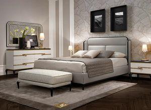 Dilan Art. D70, Bett mit Lederbezug
