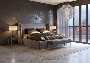 Divina Bett, Bett mit Vintage-Öko-Leder bezogen
