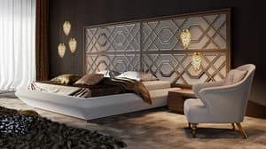 Intrigue Bett mit horizontaler Kopfteil