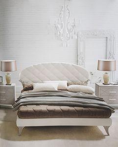 Ninfea, Bett mit Kopfteil aus Kunstleder