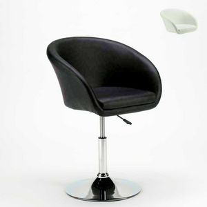 Drehhocker aus Kunstleder AUSTIN Modern Design - SGA810AUS, Hocker mit breiter Basis und Armlehnen
