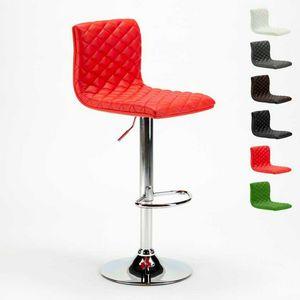 Hohe Barhocker und Küche DENVER Design gesteppte Kunstleder - SGA800DEN, Gesteppter Hocker aus Kunstleder