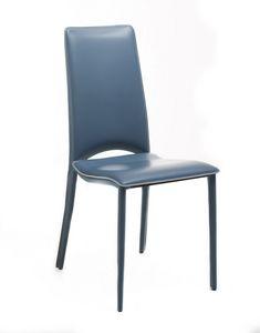 Chiara, Stuhl mit echtem Leder bezogen