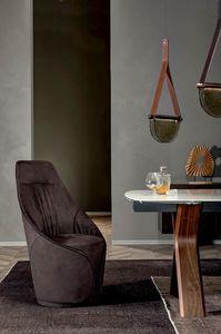 MAMA Stuhl, Stuhl komplett mit Leder oder Kunstleder bezogen