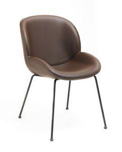 Mimì, Bequemer und eleganter moderner Stuhl