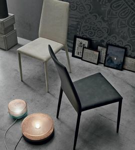 Skinny, Stuhl komplett mit Leder bezogen