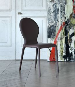 ZAR, Stuhl komplett mit Leder bezogen