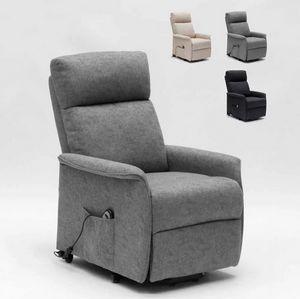 Elektrisches Relaxsessel mit Hinterrädern und Aufstehhilfe für Senioren Giorgia SR111217W, Elektrischer Entspannungssessel