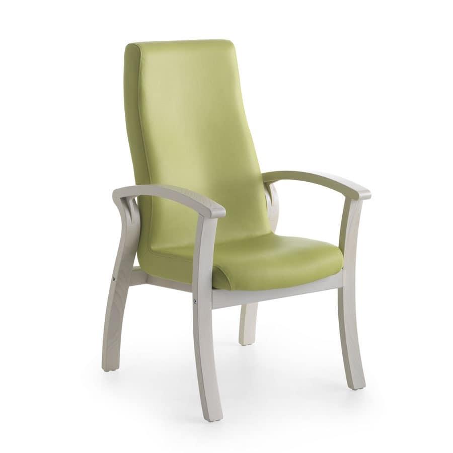 Silver Age 07 FIX, Bequemen Sessel mit hoher Rückenlehne, für Senioren