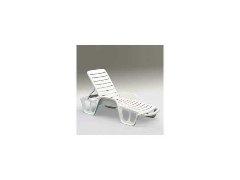 Fisso, Sonnenliege mit neigungsverstellbare Kopfstütze aus Harz, hergestellt