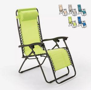 Klappstrand- Gartenliegestuhl mit Mehreren Positionen Zero Gravity Emily EM6010TEX, Klappbarer Liegestuhl mit mehreren Positionen