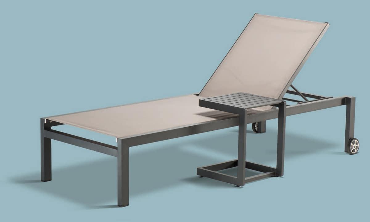 PL Santiago, Solarium in Aluminium und textilene, für Wellness-Zentren