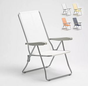 Strandgarten Liegestuhl mit Einfachen Stahlarmlehnen Easy EASY, Liegestuhl aus verzinktem Stahl