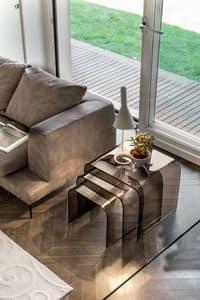 ANEMONE, Glascouchtische für Wohnräume, modernes Design
