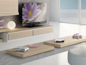 Ergänzungen Kleinen Holztisch 03, Niedriger Couchtisch aus Holz für moderne Wohnzimmer