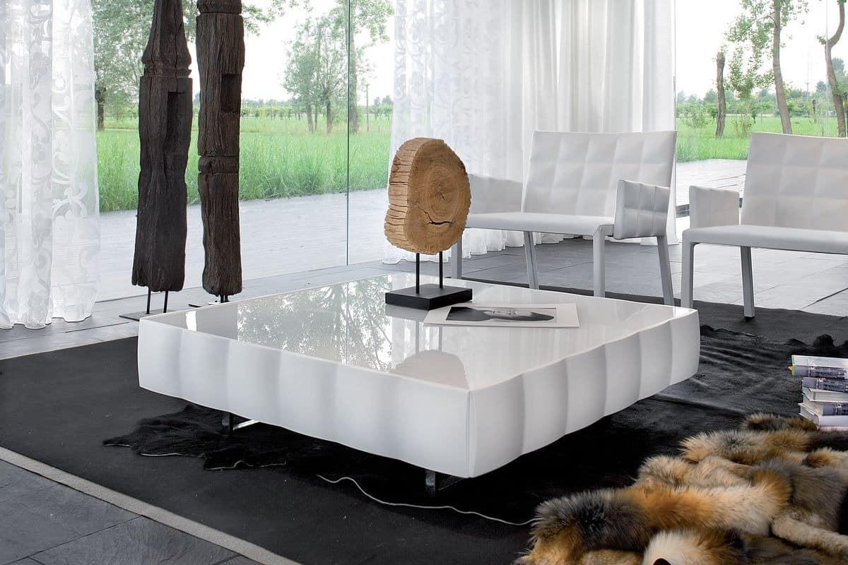 VENICE coffee table, Kaffeetisch mit PVC, für Wartezimmer beschichtet laminiert