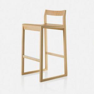 Sciza stool, Holzhocker mit raffiniertem Design